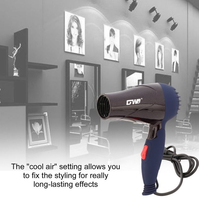 1500W Mini Foldable Hair Dryer Blower Travel Household Electric Hair Blow Dryer Hot Wind Low Noise Hairdryer EU Plug AC 220V 2