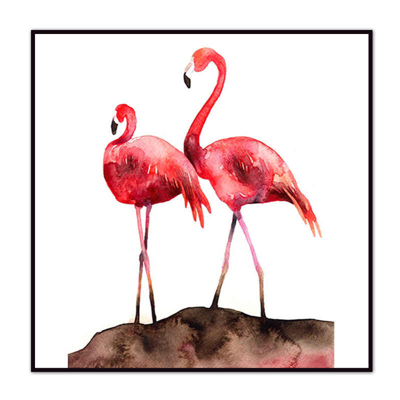 (No Framed) Modern Flamingo poster Custom Canvas Print On Canvas Printing Wall Pictures Home Decoration 12YM-7-Z-4