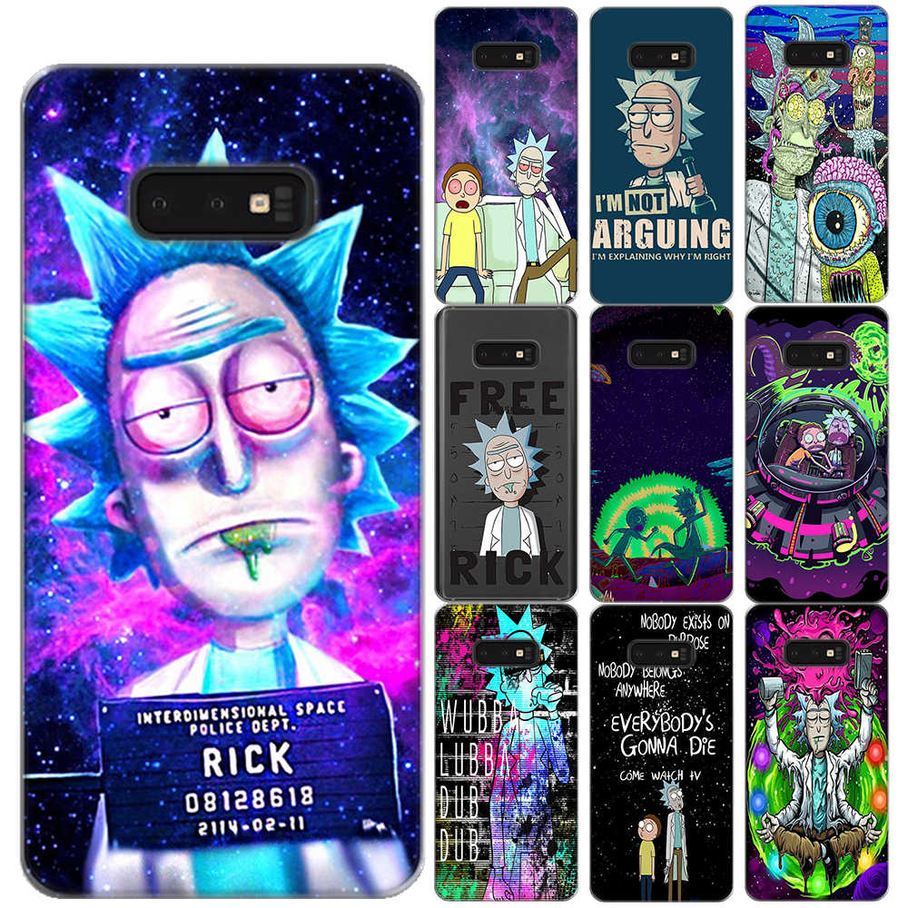 Rick และ Morty นุ่ม TPU สำหรับ Samsung Galaxy S5 Mini S6 S7 Edge S8 S9 S10 Plus S10 5G E Lite S10E Silicon Coque