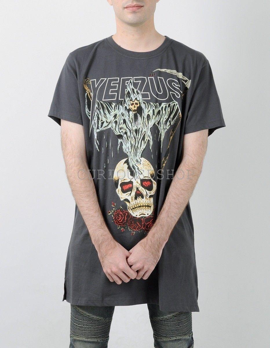 Kanyewest Men Skull Bones T-shirt Jesus Christ God Wants You HipHop T-shirt