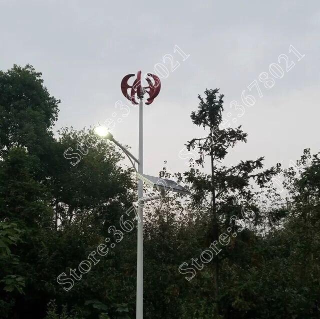 Générateur d'éolienne à axe Vertical VAWT 300 W 12/24 V série D léger et générateur de vent Portable fort et silencieux - 4