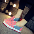 woman cute heart printed flat shoes lady spring and autumn street shoes teenager girl comfortable cloth shoes sapatos femininas