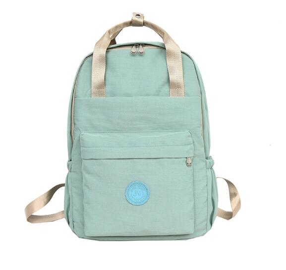2019 casual canvas women solid backpack students rucksack-in Backpacks from Luggage & Bags    3
