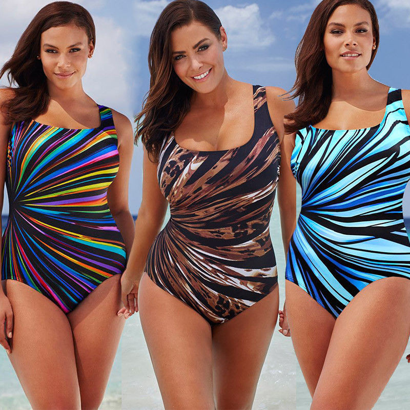 <font><b>Sexy</b></font> <font><b>Women</b></font> Plus Size <font><b>One</b></font> <font><b>Piece</b></font> Bikini <font><b>Swimwear</b></font> Monokini <font><b>Printing</b></font> Bandage <font><b>Swimsuit</b></font> Bathing Suit <font><b>2017</b></font> Newest image
