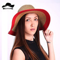 2017 fashion women Beach hats for women summer straw hat beach cap sun hats for women Sexy vogue ladies large two Color