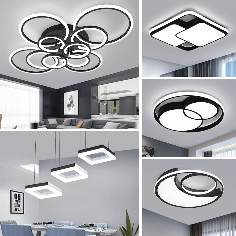 LED Ceiling Chandelier Light VVS Modern Simple Warm Fashion Circle led Light Living Room Dining Room