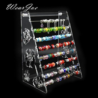 Acrylic Rondelles Rack European Beads Display Stand Pandora Charms Beads Bracelet Jewellry Body Jewelry Ring Earrings Showcase