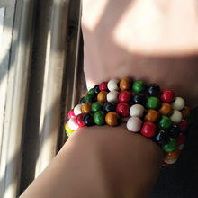 2019 hot jewelry Ethnic style series of new color wooden bead stretch bracelet lap small beads jewelry special wholesale(China)