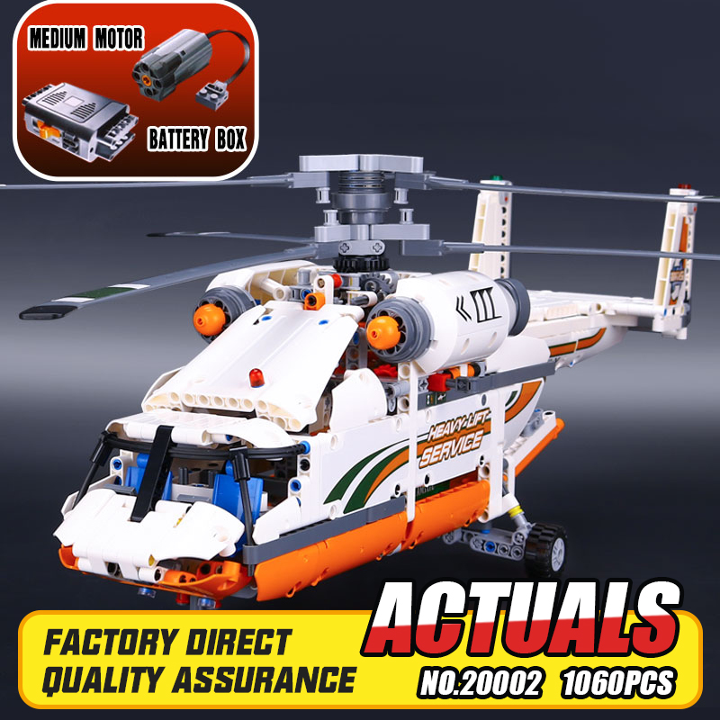 ФОТО Lepin 20002 technology series mechanical group high load helicopter blocks Compatible With 42052 Boy assembling toys