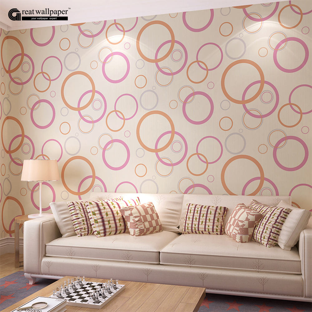 High quality modern 3d circle self adhesive wallpaper wall for Living room paper