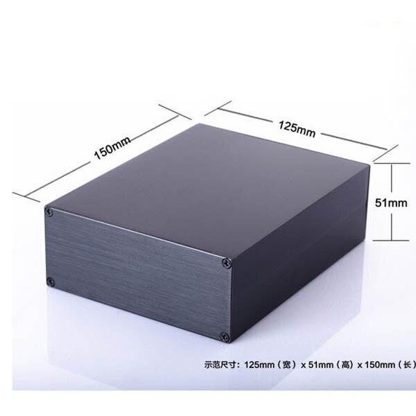 Алюминиевый корпус 125X51X150 мм DIY проект электрическая разбиты окна экструзии корпус Электроники PCB корпус усилителя корпус