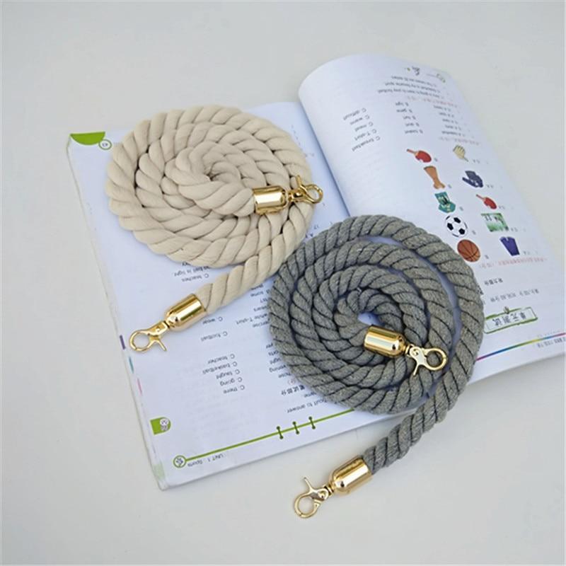Rope Round Straps Belts Shoulder Bag Solid DIY Weave Purse Handle Ornament Handbag Accessories Replacement Metal Head For Women