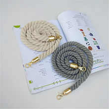 Rope Round Straps Belts Shoulder Bag Solid DIY Weave Purse Handle Ornament Handbag Accessories Replacement Metal Head For Women(China)