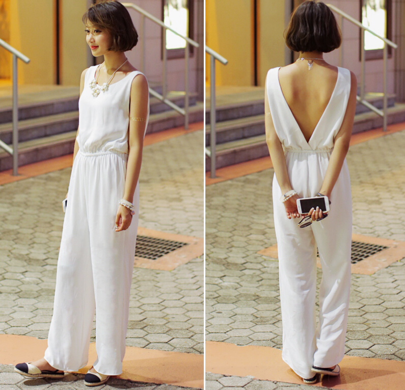 2bf9b7c801 Korean brand young lady white chiffon jumpsuit sleeveless women jpg 795x765  White jumpers and rompers for