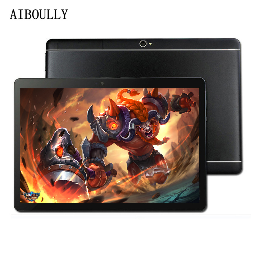 AIBOULLY 2018 New 10.1 Inch Android Tablet PC 7.0 OS Octa Core 4GB 64GB Original 3G Phone Call Tablet Dual SIM Camera GPS 9.7''