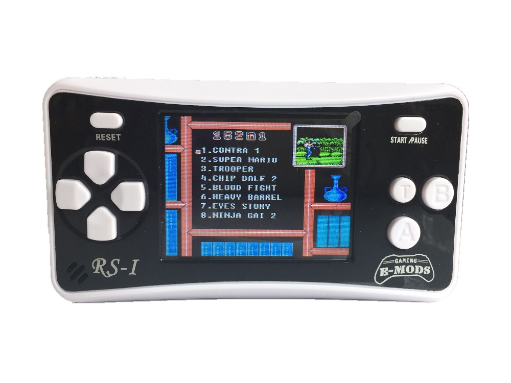 2.5″ Portable 8 Bit Video Game Console Handheld Rechargable Game Player Built-in 162 Games Support AV Output (Black)