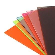1PC פרספקס לוח צבעים אקריליק גיליון אורגני זכוכית DIY דגם ביצוע לוח 10x20cm