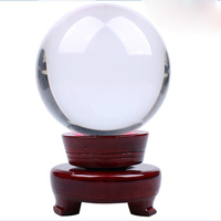 New Arrival 100MM Feng Shui Asian Quartz Clear Crystal Solid Ball Sphere With Stand For Home Decoration