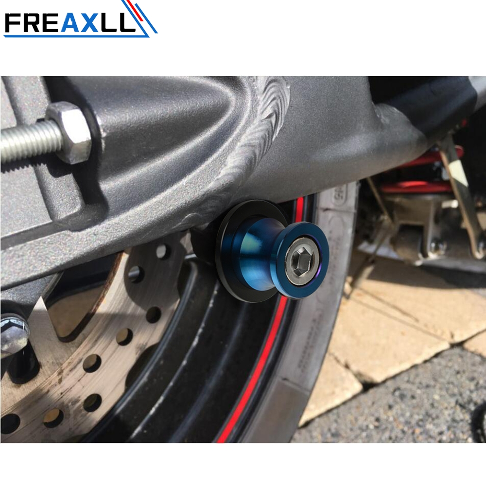 8mm Motorcycle Stainless Steel Moto SWINGARM SLIDERS SPOOLS High Quality Colorful AccessoriesFor SUZUKI SV650 S All Year in Covers Ornamental Mouldings from Automobiles Motorcycles