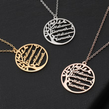 Personalized Tree Of Life Custom Name Necklace Stainless Steel Golden Family Tree Women Letter Necklace Jewelry Couple Gifts(China)