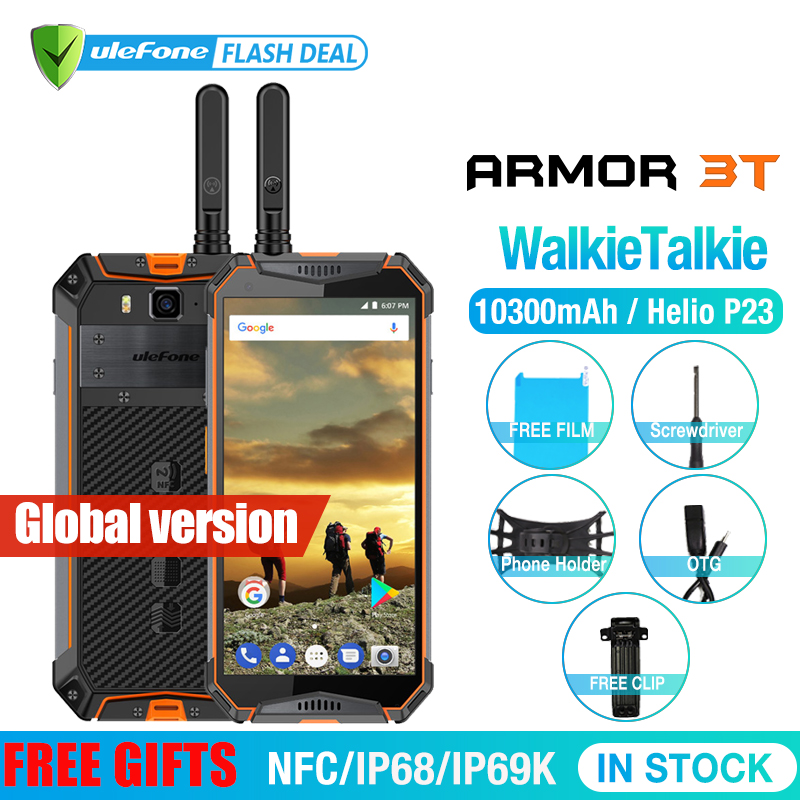 Ulefone Armor 3T IP68 Waterproof Mobile Phone Android 8.1 5.7inch 21MP Helio P23 Octa Core NFC 10300mah Walkie Talkie Smartphone