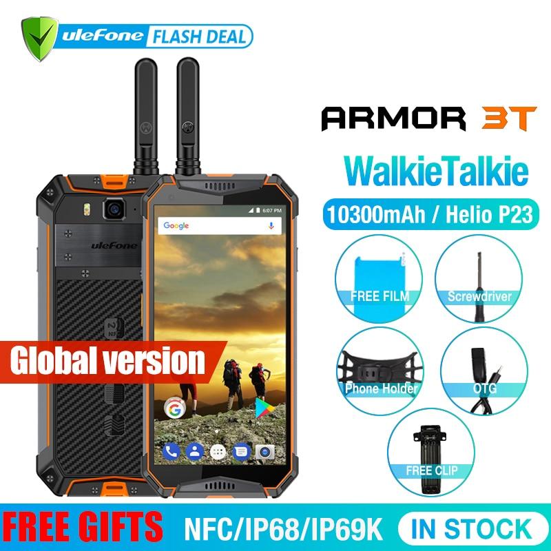 Ulefone armadura 3 T IP68 impermeable del teléfono móvil Android 8,1 de 5,7 pulgadas 21MP helio P23 Octa Core NFC 10300 mAh walkie Talkie teléfono inteligente