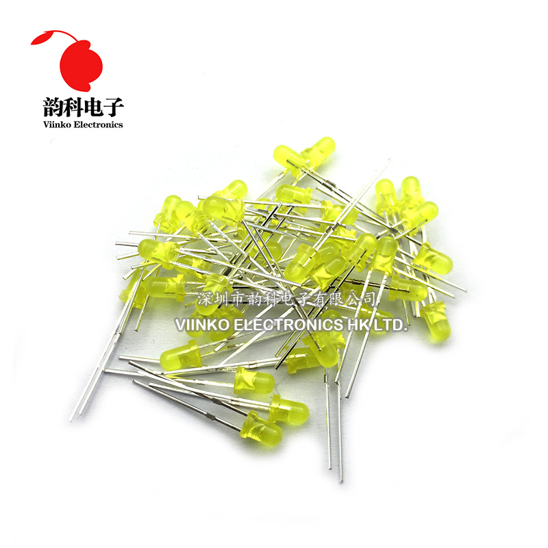 100PCS LED 3MM YELLOW COLOR YELLOW LIGHT Super Bright top