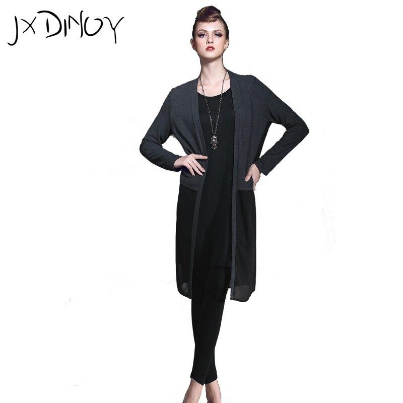 JXDINOY font b Women b font Spring Autumn causal 2017 mesh fashion Loose Full Sleeve Open