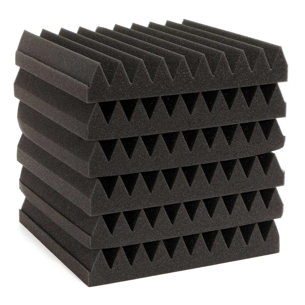 Promotion 6pcs Set Soundproofing Acoustic Wedge Foam Tiles