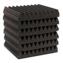 Продвижение 6 шт./компл. Звукоизоляция Акустические Клин Пены Плитка Стеновые Панели 30x30x5 СМ/12X12X2 дюймов Полиуретановые Пены