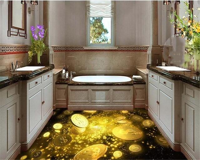 Beibehang fantastic bella moneta d oro pittura piastrelle