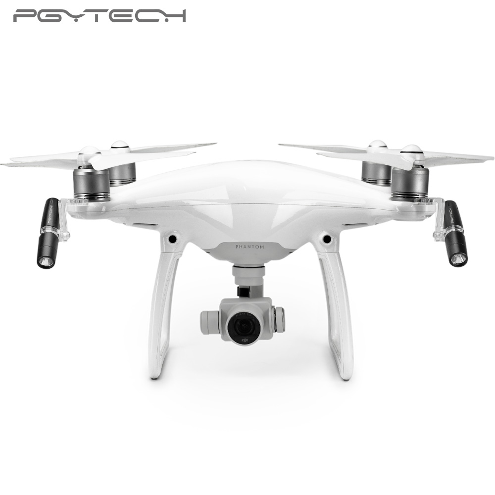 PGYTECH NEW Headlamp For Phantom 4 Series Adjust LED Light Intensity Drone Accessories Lamp