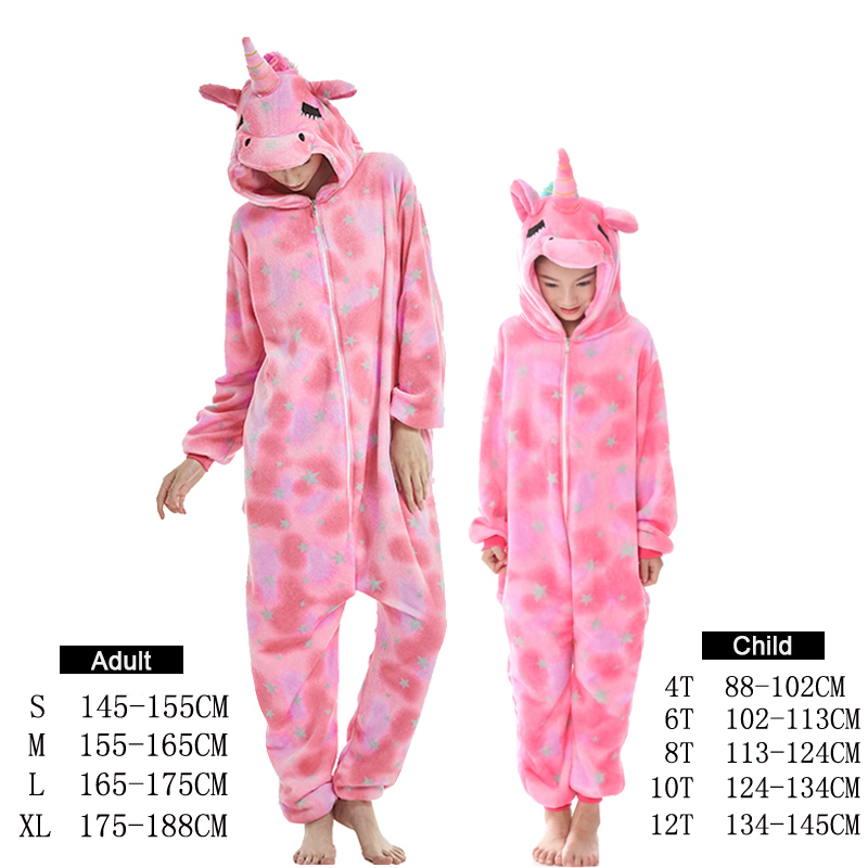 Image 5 - NEW mommy and me animal unicorn panda family matching pajamas clothes hooded kids mother soft sleepwear winter Christmas pyjamas-in Matching Family Outfits from Mother & Kids