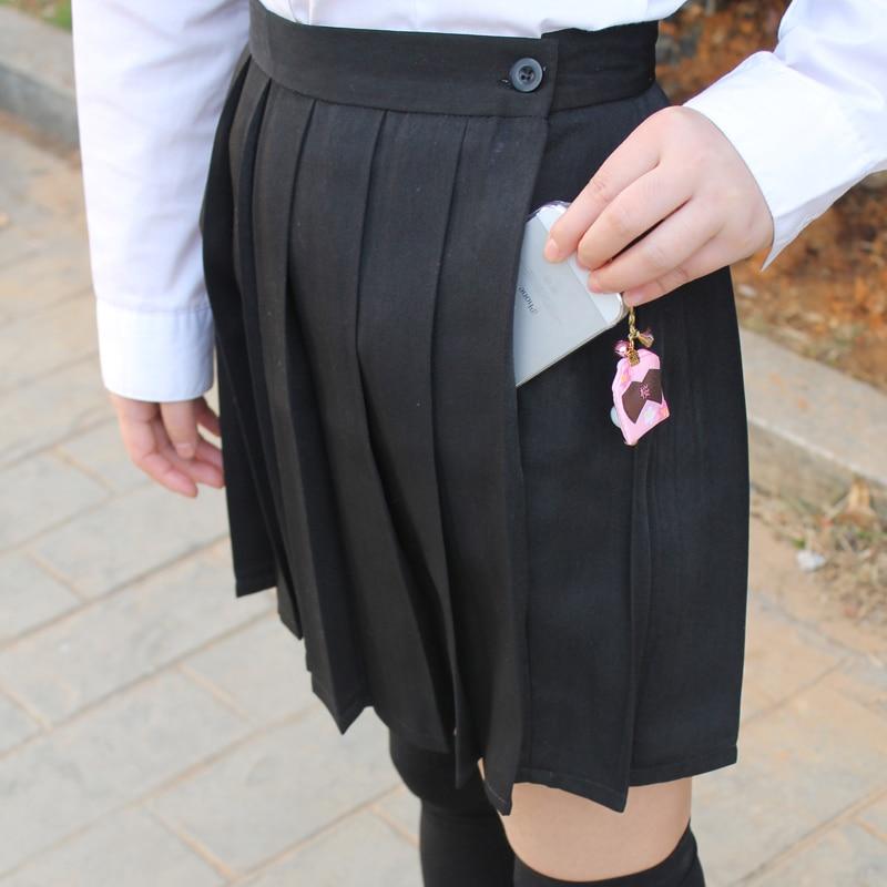 Μαύρο χρώμα Ιαπωνικά υψηλής μέσης JK - Γυναικείος ρουχισμός