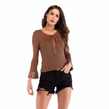 11a4088e921 Autumn New V Neck Front Bow Tied Pullover Sweater Women Real Goat Cashmere  Long Sleeve Winter