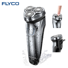 FLYCO Men's Electric Shaver Razor with 3D Floating Heads Men's shaving machine IPX7 waterproof beard shaver Wireless use FS339