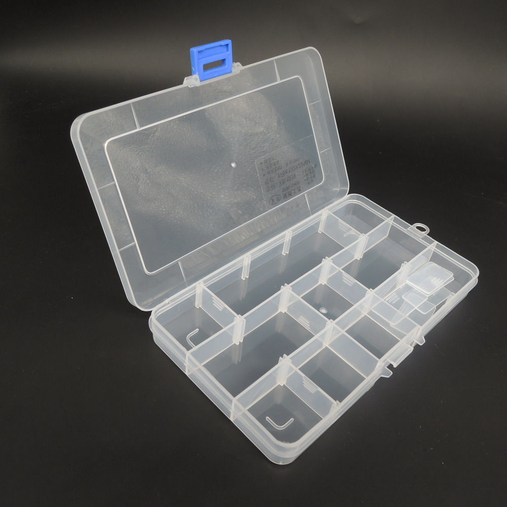 NEWACALOX Toolbox Electronic Plastic Container Box For Tools Case SMD SMT Screw Sewing PP Transparent Component Storage Box