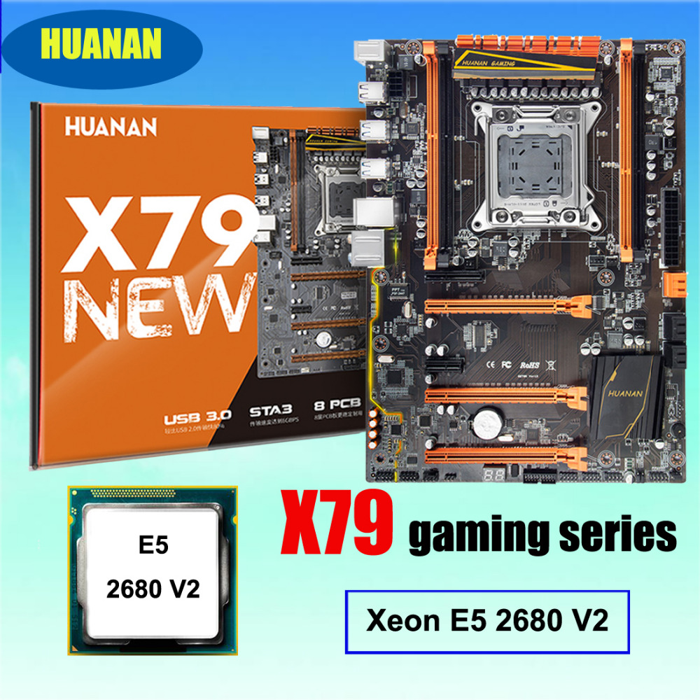 Best seller desconto mainboard HUANAN ZHI deluxe X79 LGA2011 motherboard gaming com slot de CPU Intel Xeon M.2 E5 2680 V2 SR1A6