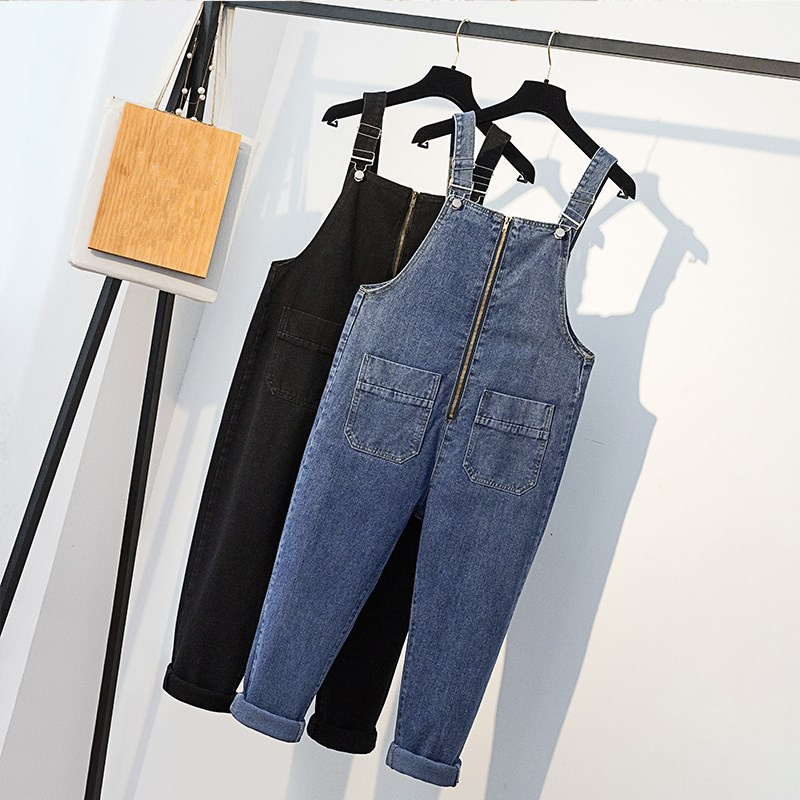 Bottoms Practical Plus Size 5xl Denim Overalls High Waist Rompers Womens Jumpsuit Loose Boyfriend Jeans For Women Casual Jeans Romper Women C5397