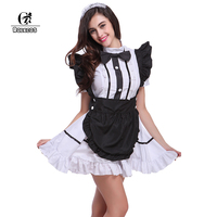ROLECOS New Anime Cosplay Costume Maid Servant Costume Apron Dress French Maid Servant Costume