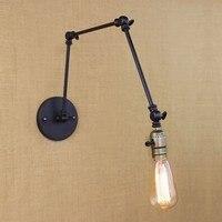 industrial retro vintage black adjust head swing arm wall lamps e27 lights sconce for bedside bedroom corridor luminaire bar