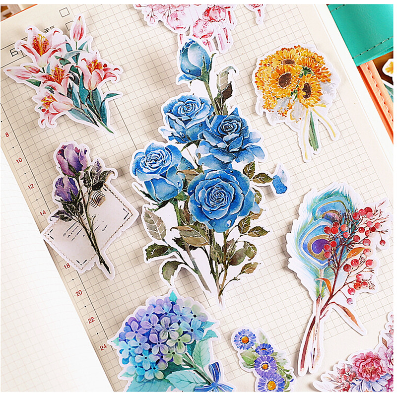 20pcs Creative kawaii Self-made flower  stickers Beautiful Stickers /Decorative Sticker /DIY Craft Photo Albums geoff burch self made me why being self employed beats everyday employment