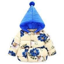 Буэнос-Ниньо Детей Зимний хлопок Теплые Куртки мерной Цветок Хлопка Пальто Верхняя Одежда