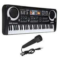61 Keys Electronic Piano Keyboard with Microphone Educational Toy Musical Instrument Piano Music Toy Kids Early Learning Gift