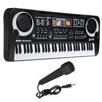 61 Phím Piano Điện Tử Bàn Phím với Microphone Giáo Dục Đồ Chơi Nhạc Cụ Đàn Piano Đồ Chơi Âm Nhạc Kids Early Learning Gift