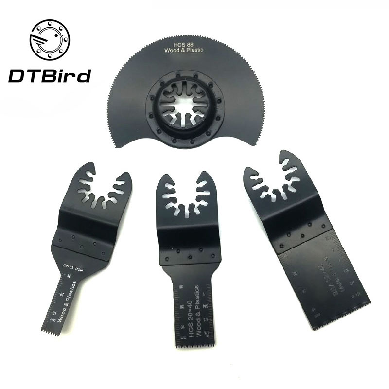 4pcs/set Multi-Function Saw Blade Accessories Oscillating Tool MultiTool Saw Blades For Renovator Power  Wood Cutting Tool Bits