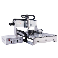 High power DIY CNC 6040 2.2kw USB milling machine with 4 axis for metal