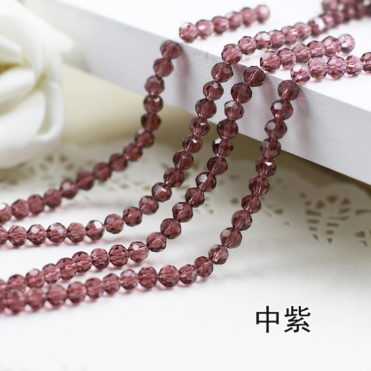 Wholesale~ Purple Color 5000# Crystal Glass Beads Loose Round Stones Spacer for Jewelry Garment.4mm 6mm 8mm 10mm wholesale light siam color 5000 crystal glass beads loose round stones spacer for jewelry garment 4mm 6mm 8mm 10mm