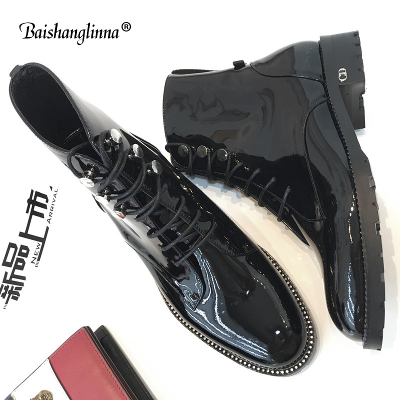 2018 100% genuine leather Handmade Women's Ankle Boots casual Lace Up female motorcycle ankle fashion boots Round Toe Shoes new y s 2016 new mens casual desert boots mans genuine leather flat shoes adults round toe ankle chukka adults quilted boots y 100