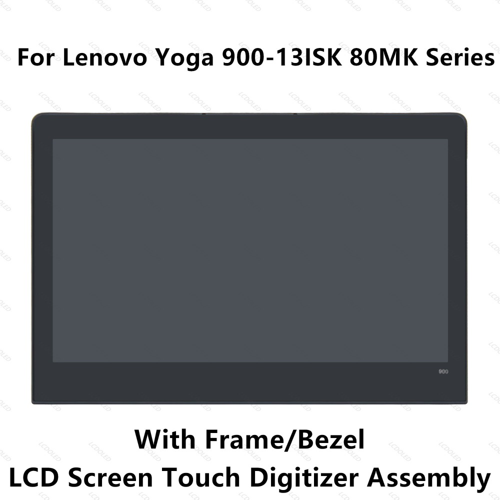 13 3 LCD LED Display Panel Touch Screen Glass Digitizer Assembly With Frame Bezel For Lenovo